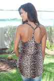 Leopard Tank Top with Twisted Back