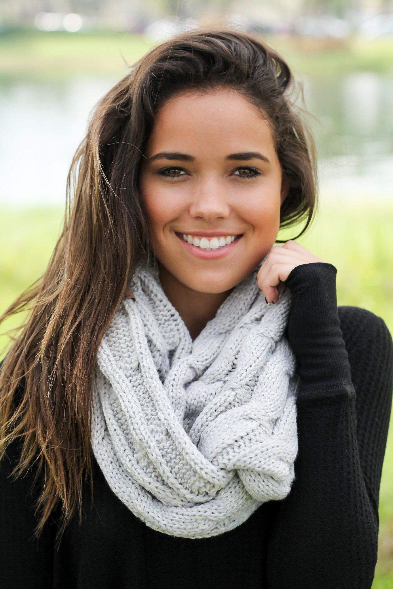 Light Gray Infinity Scarf