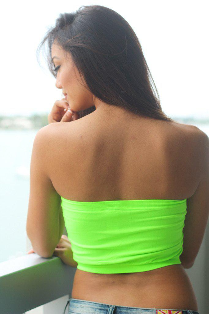 Neon Lime Bandeau Top