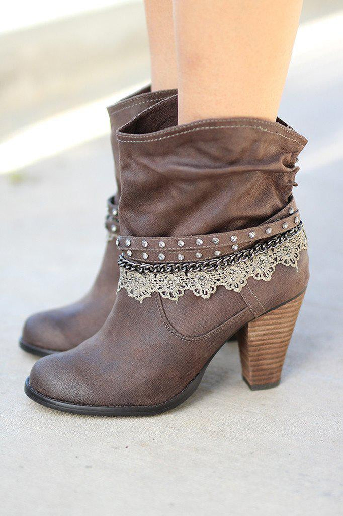 Taupe Lobsteria Booties