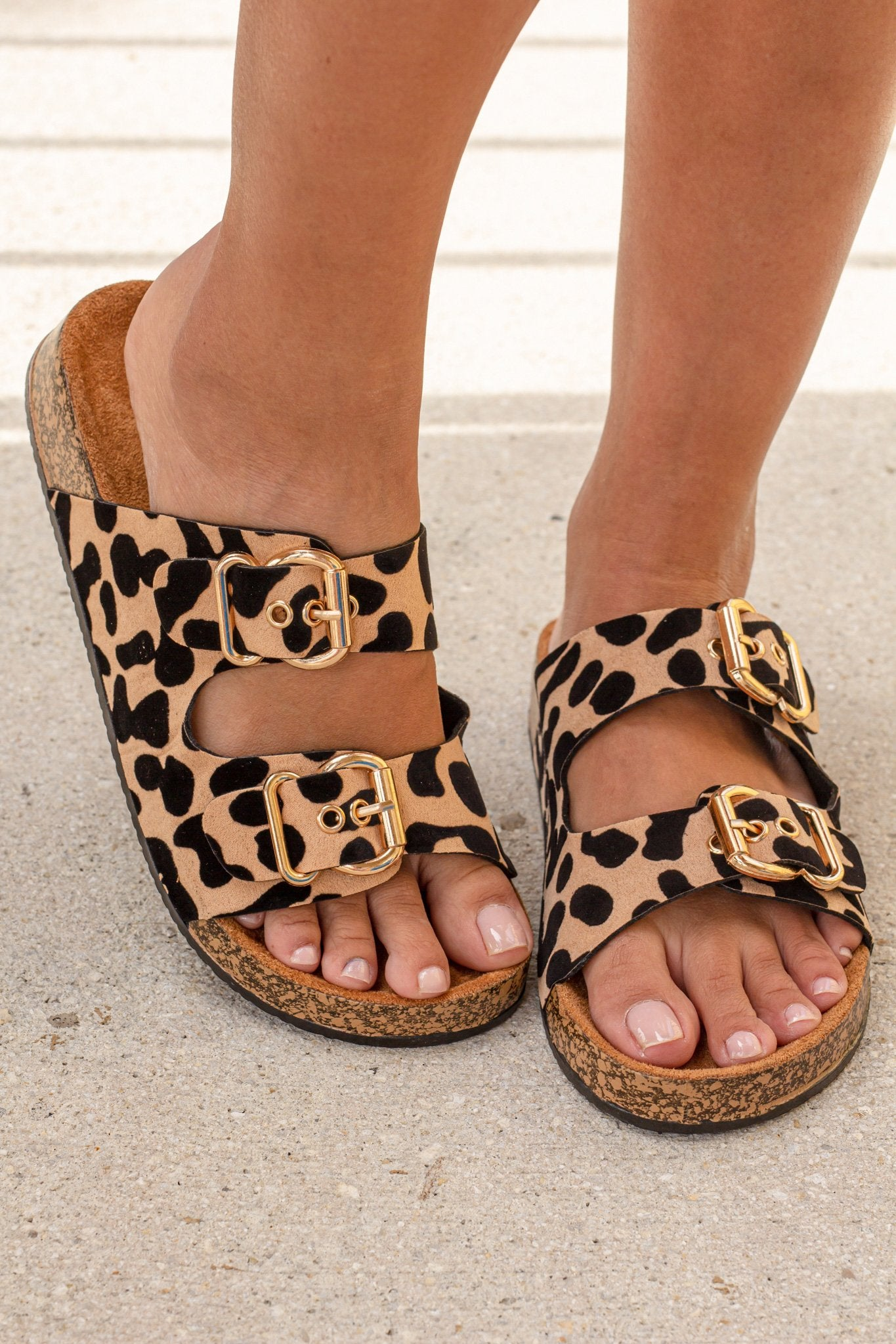 Luka Leopard Printed Sandals