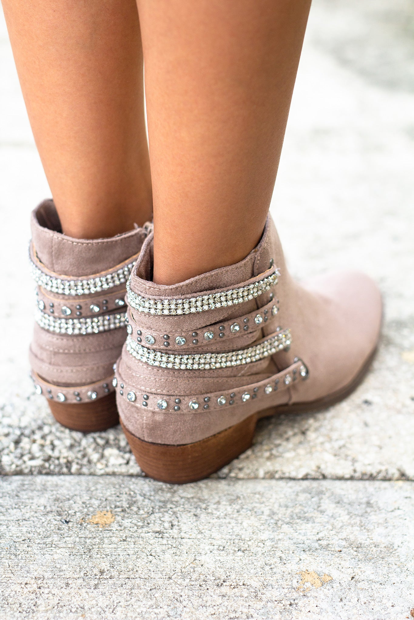 Lynn Taupe Booties