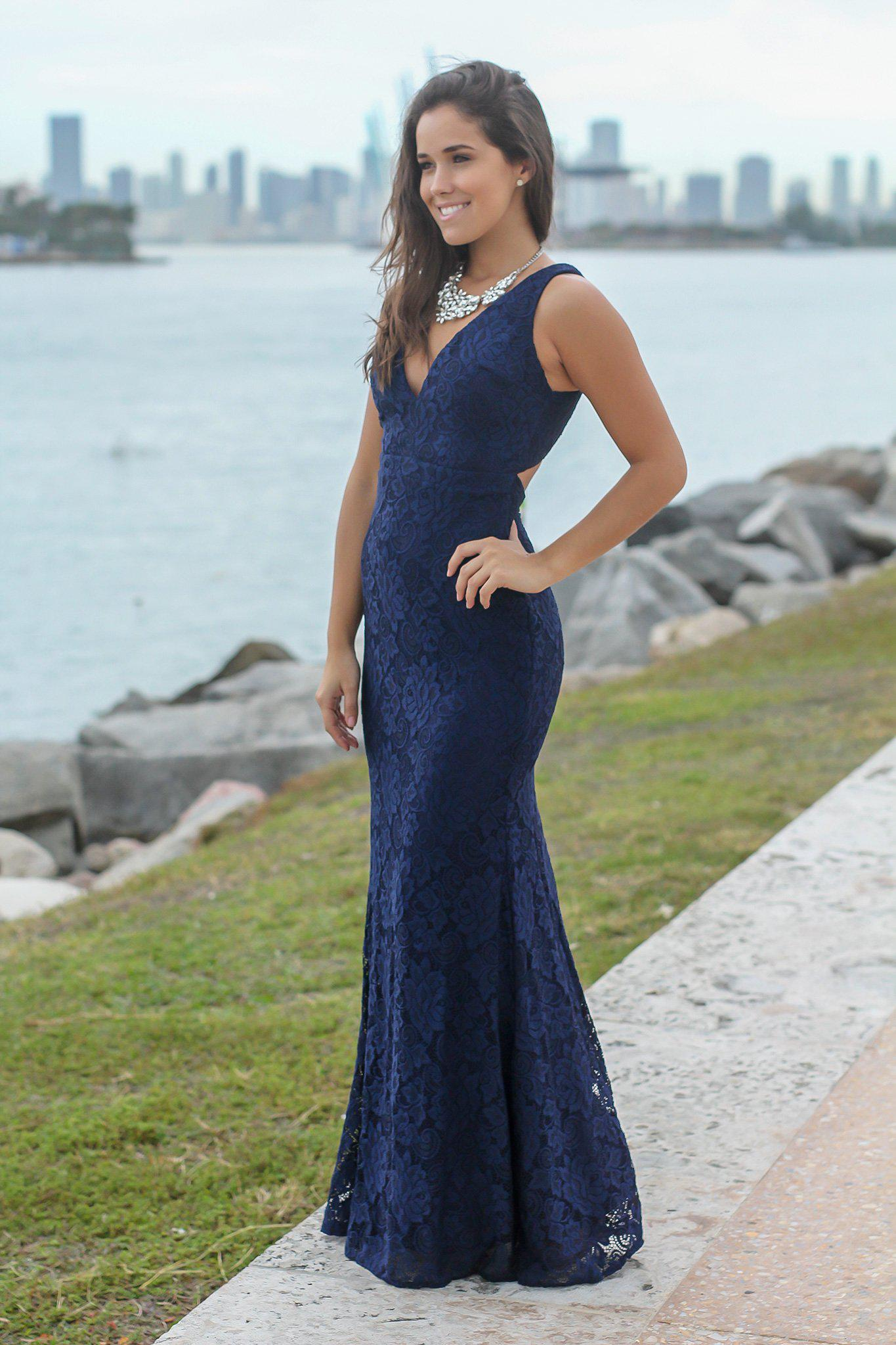 Navy lace maxi dress with open back bridesmaid dresses saved navy dresses lace dresses maxi dresses bridesmaid dresses ombrellifo Images