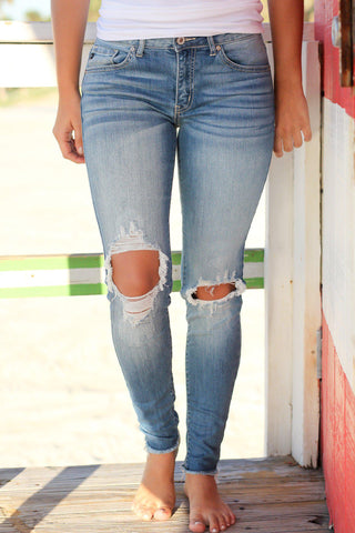 Medium Ripped Denim Jeans