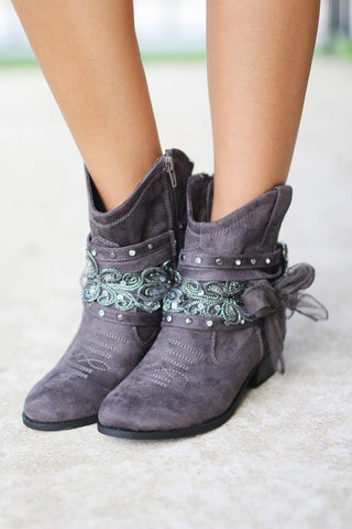 Midas Gray Booties