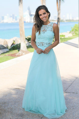 Mint Tulle Two Piece Set