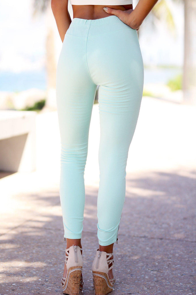 mint skinny jeggins