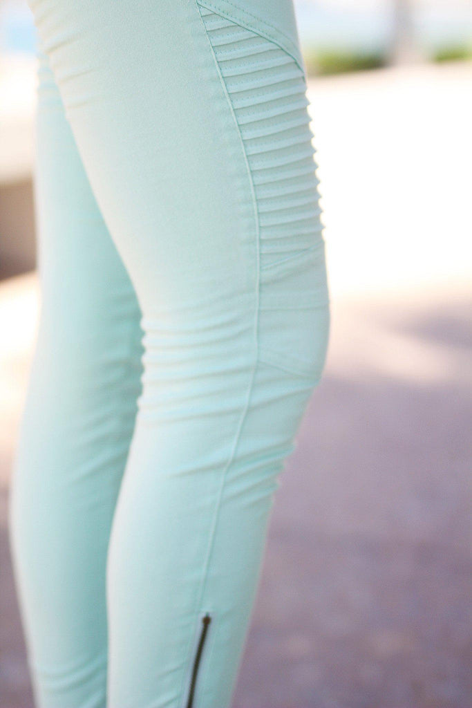 mint ankle zipper jeggings