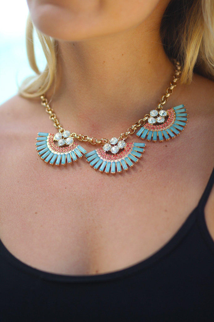 Mint Moon Drop Necklace