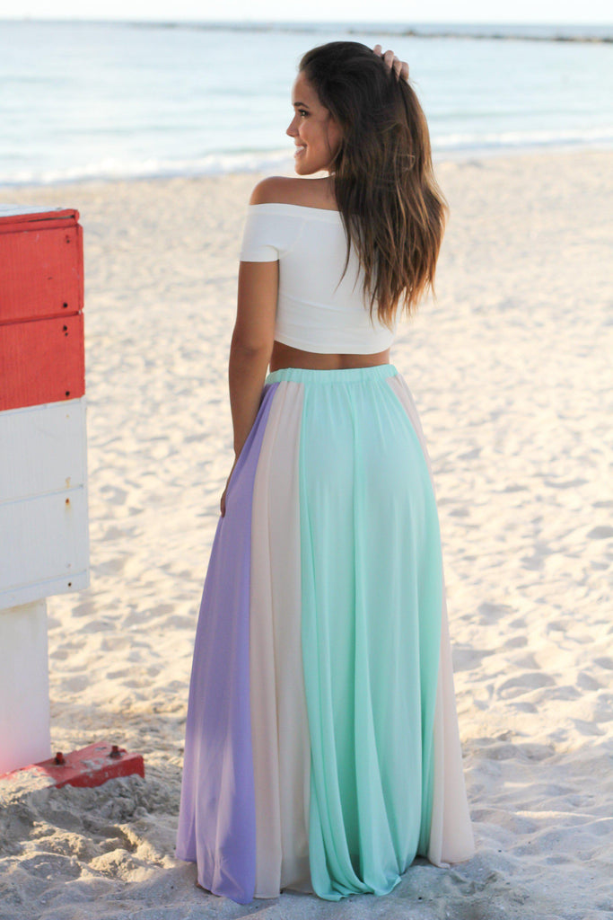 mint pleated maxi skirt skirts saved by the dress