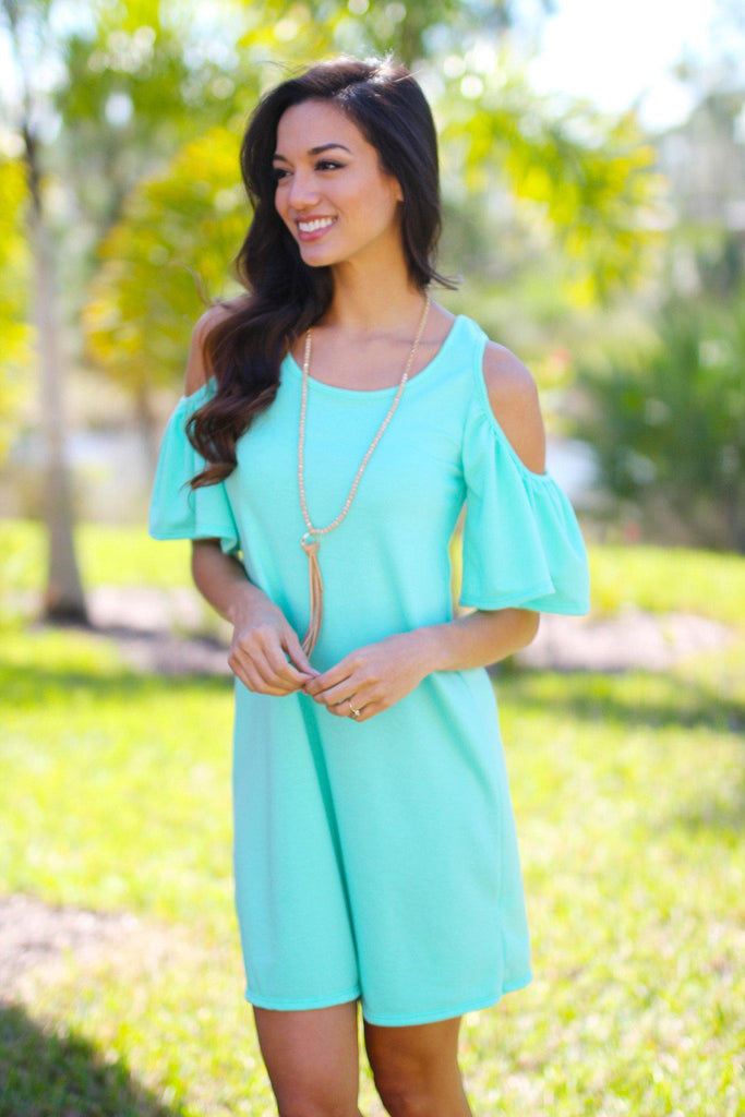 mint short sleeve tunic