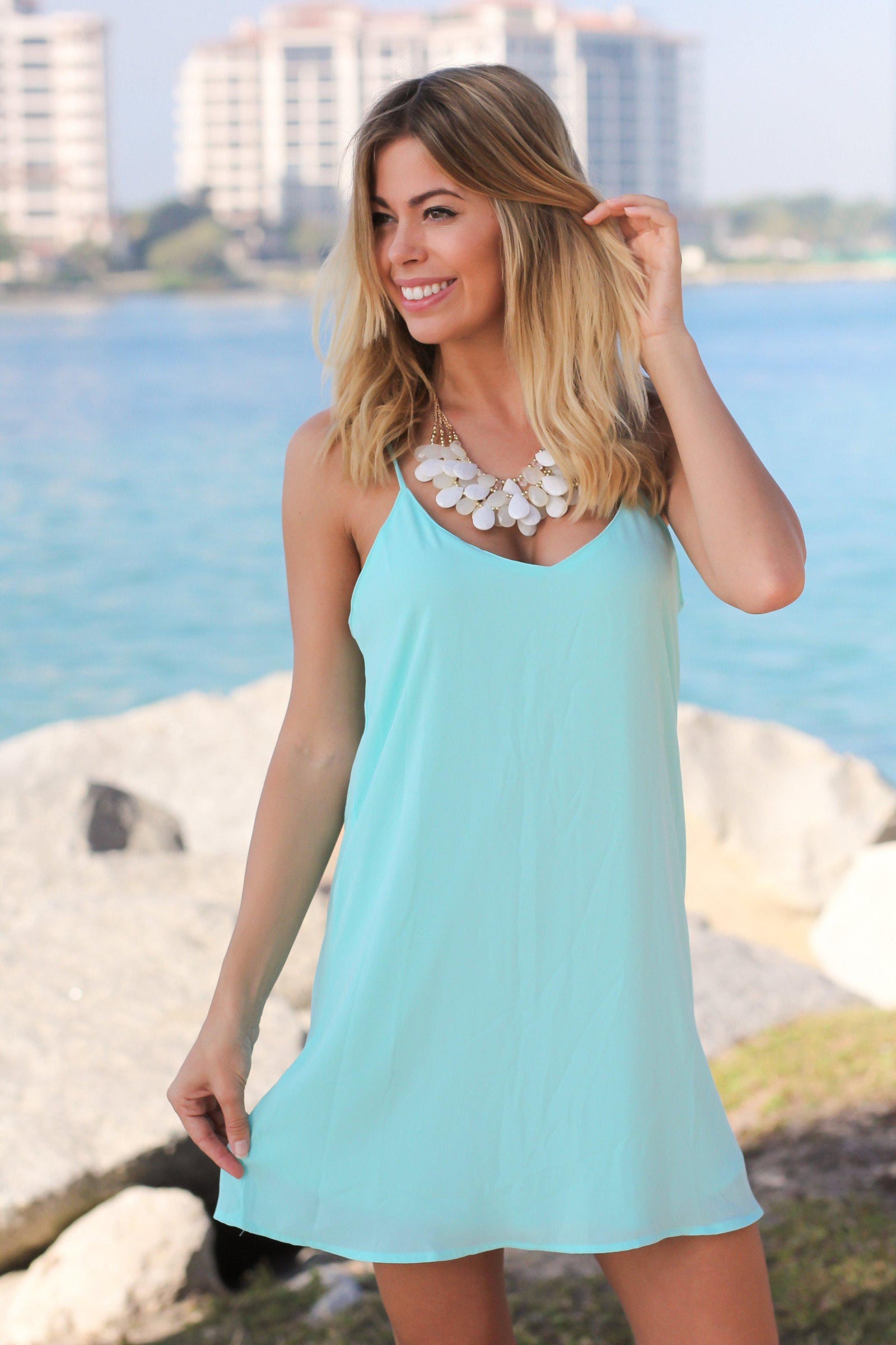 Mint Tank Short Dress
