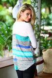 multi color long sleeve top