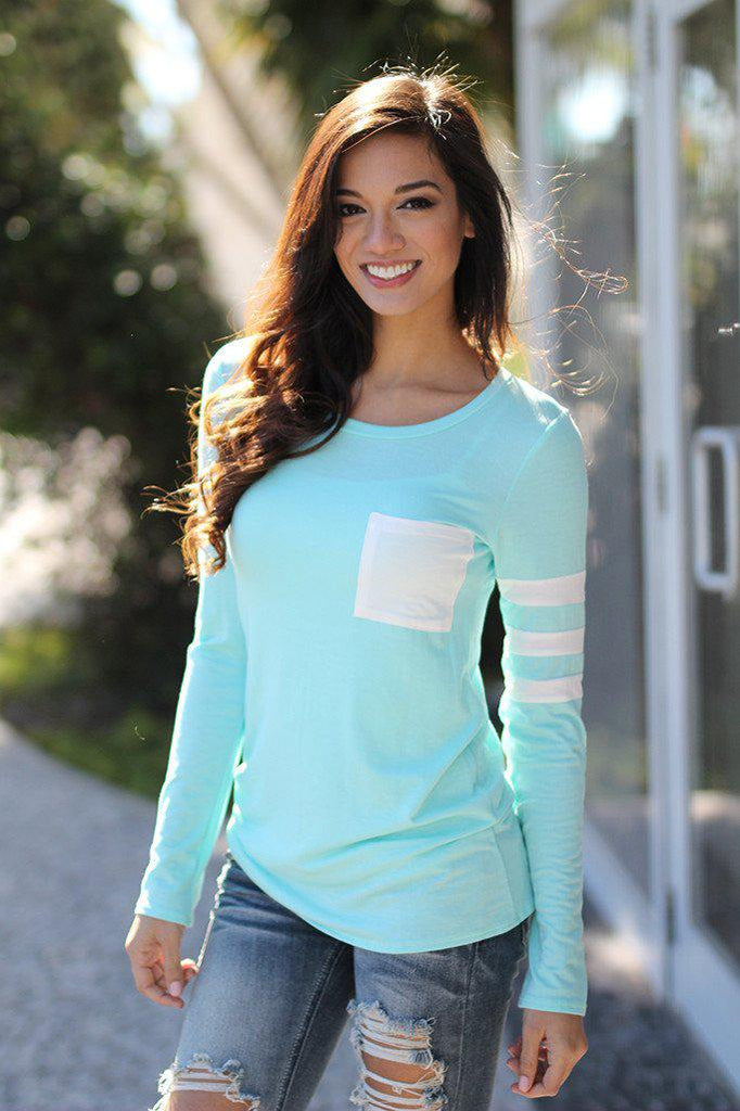 mint casual top