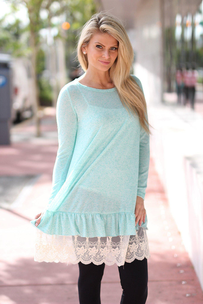 mint long sleeve tunic