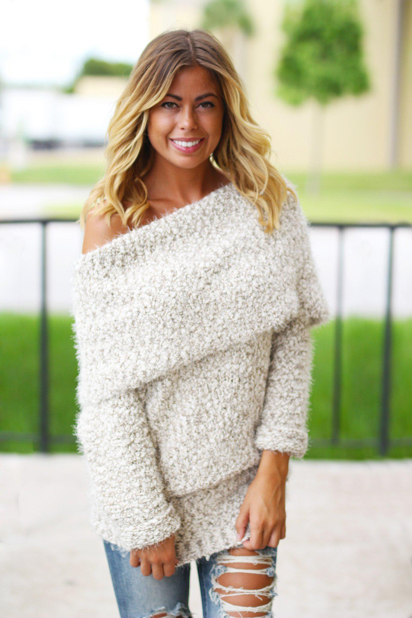 Mocha Plush Chunky Sweater