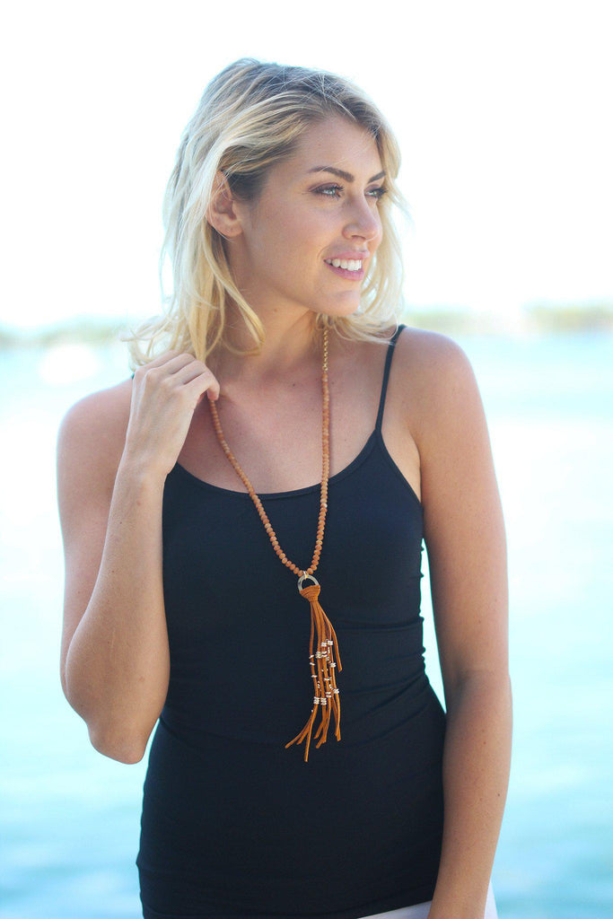 Mocha Last Waltz Tassel Necklace