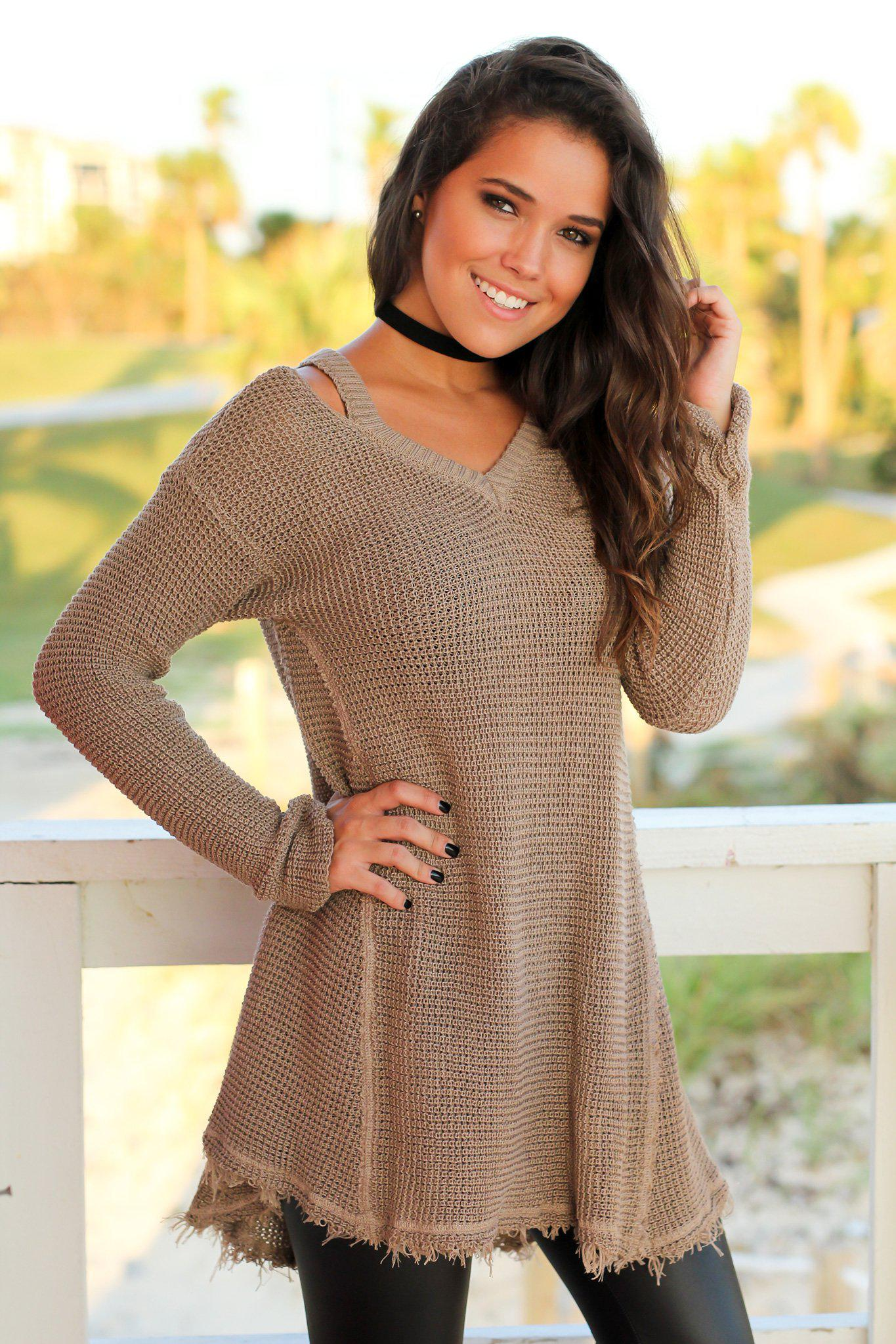 Mocha Tunic Sweater