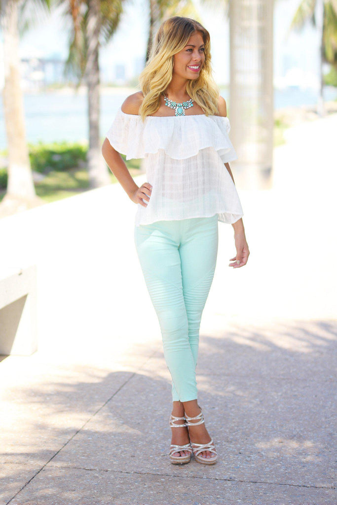 mint summer jeggins