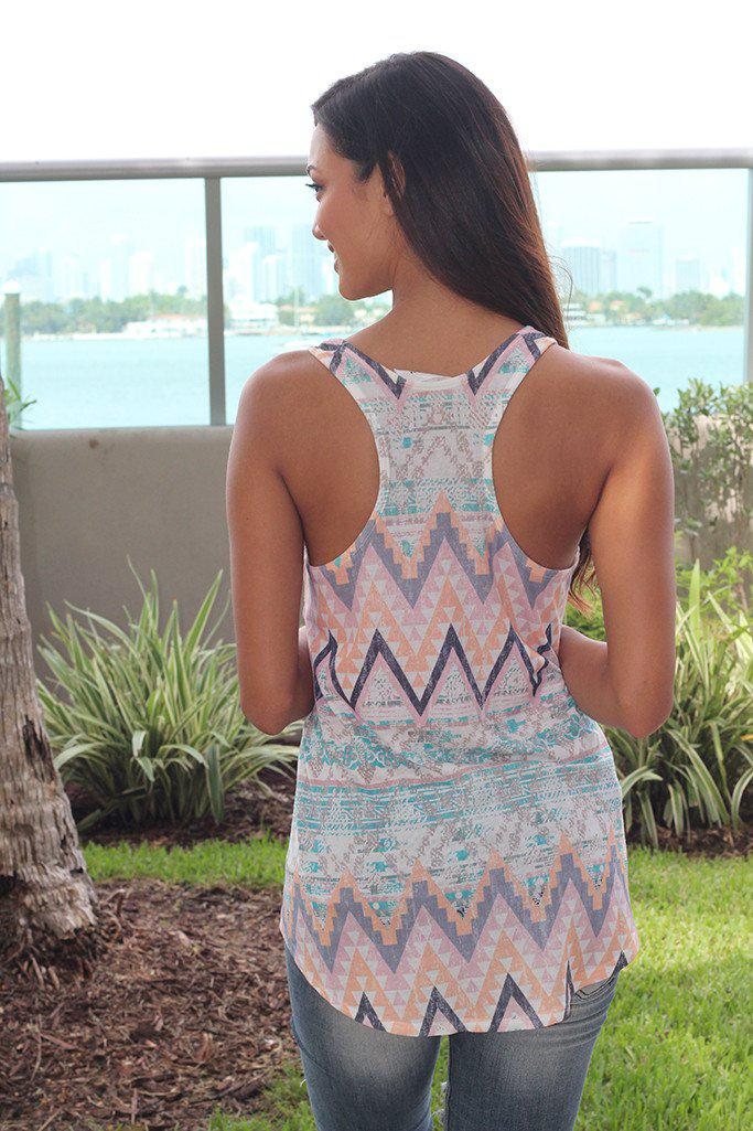 Multi Color Aztec Tank Top