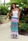 Multi Color Maxi Skirt