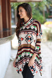 printed multi color tunic