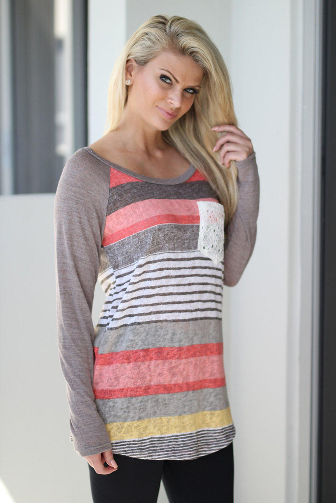 cute multicolor top