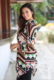 asymmetrical printed tunic