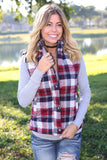 navy plaid vest with pockets