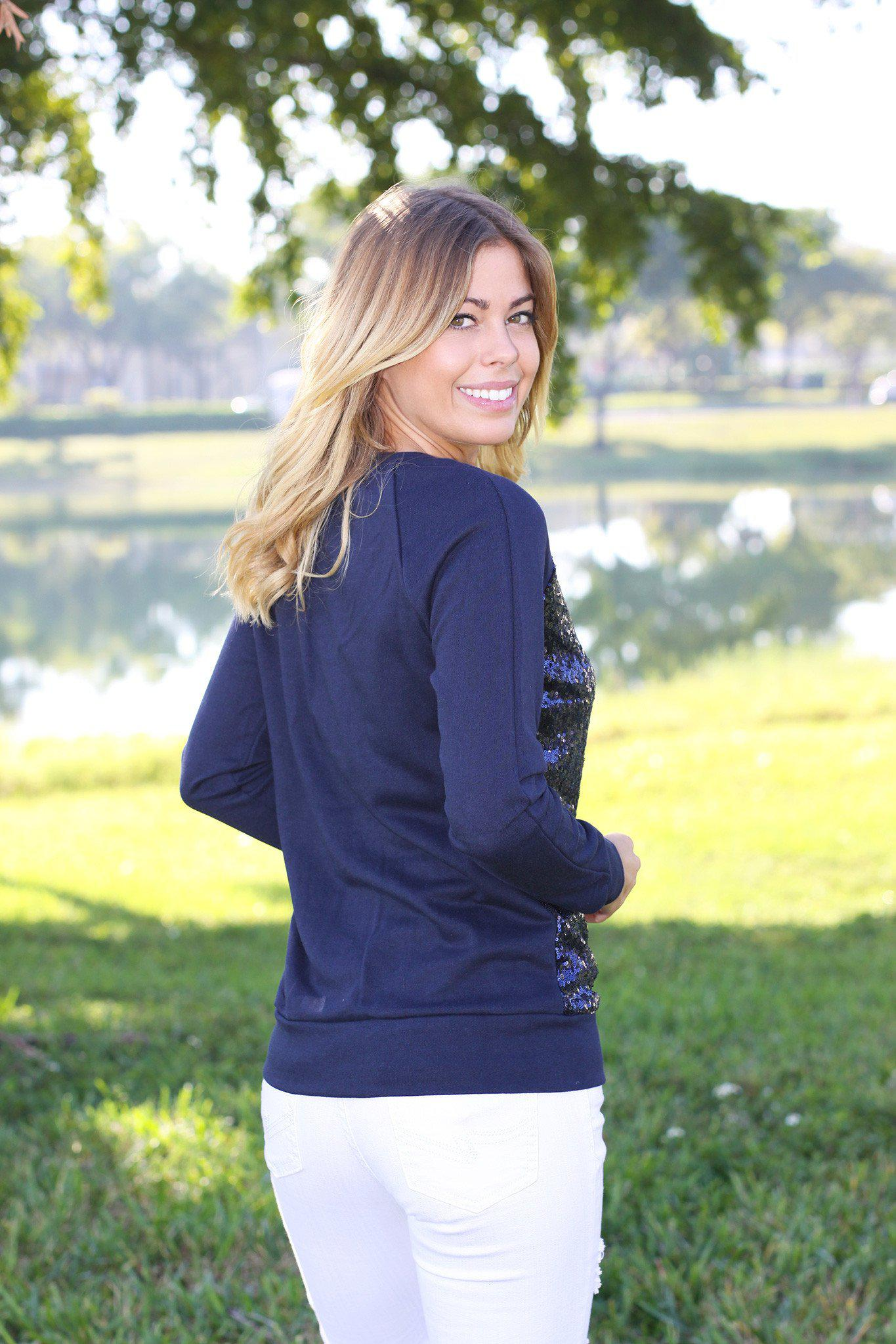 navy casual top