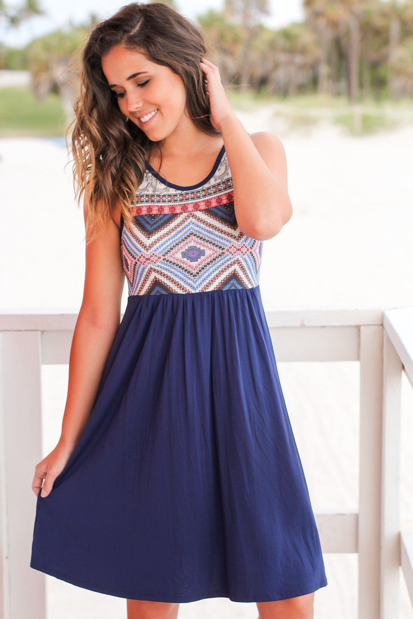 Navy Short Dress
