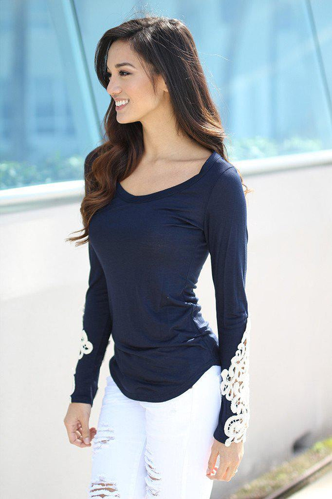 navy fashion top