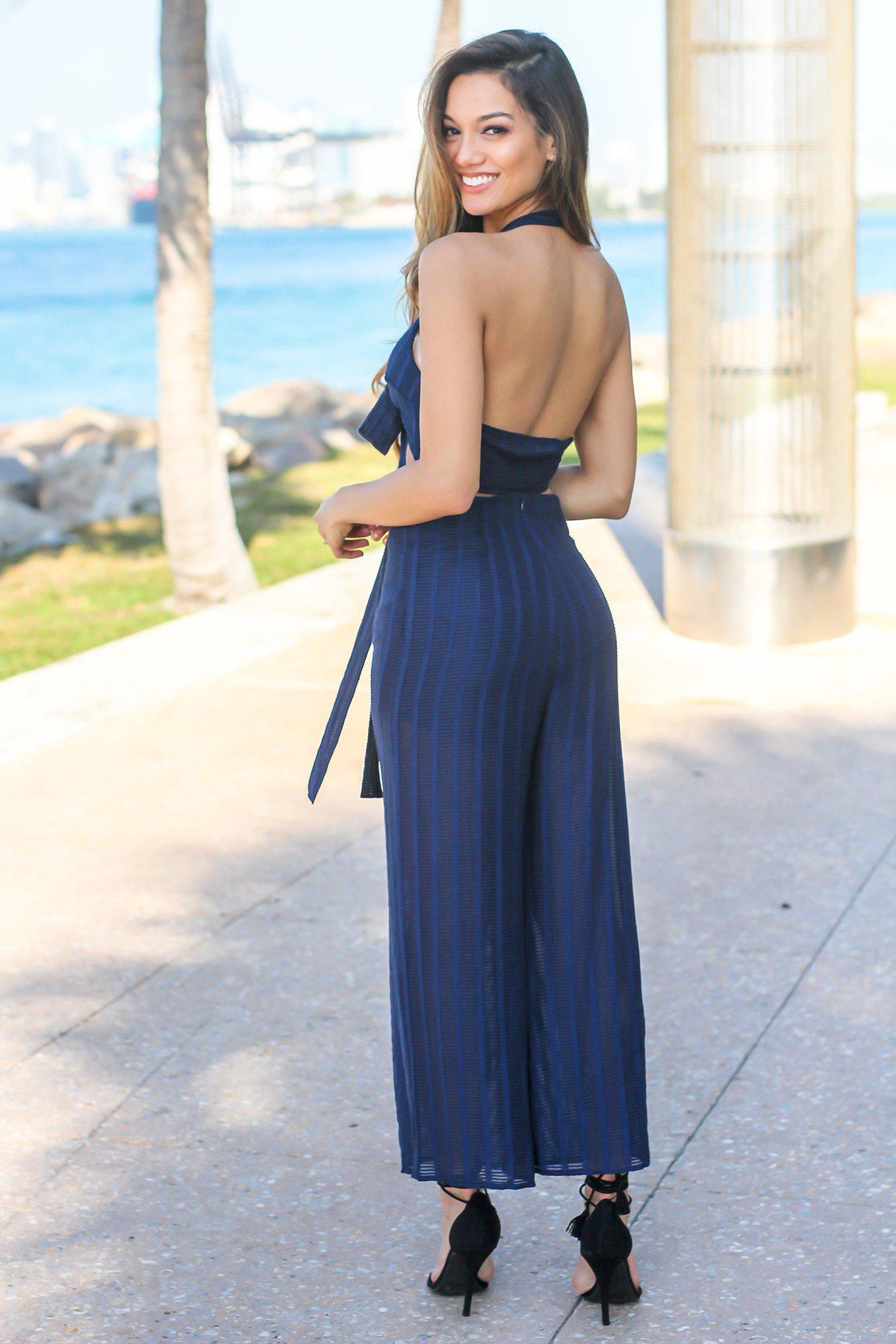 Navy Two Piece Set