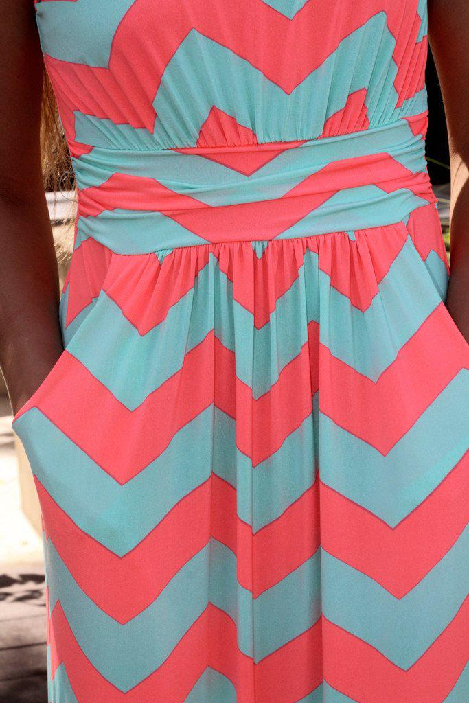 casual chevron dress with pockets