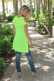 Neon Yellow Off Shoulder Tunic