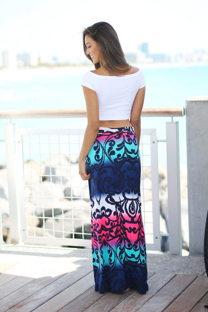 multi color printed skirt