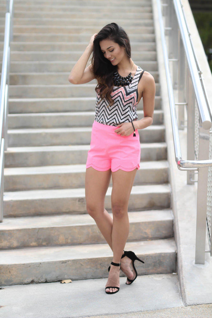 neon pink club shorts
