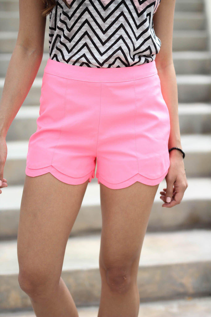 neon pink dressy shorts