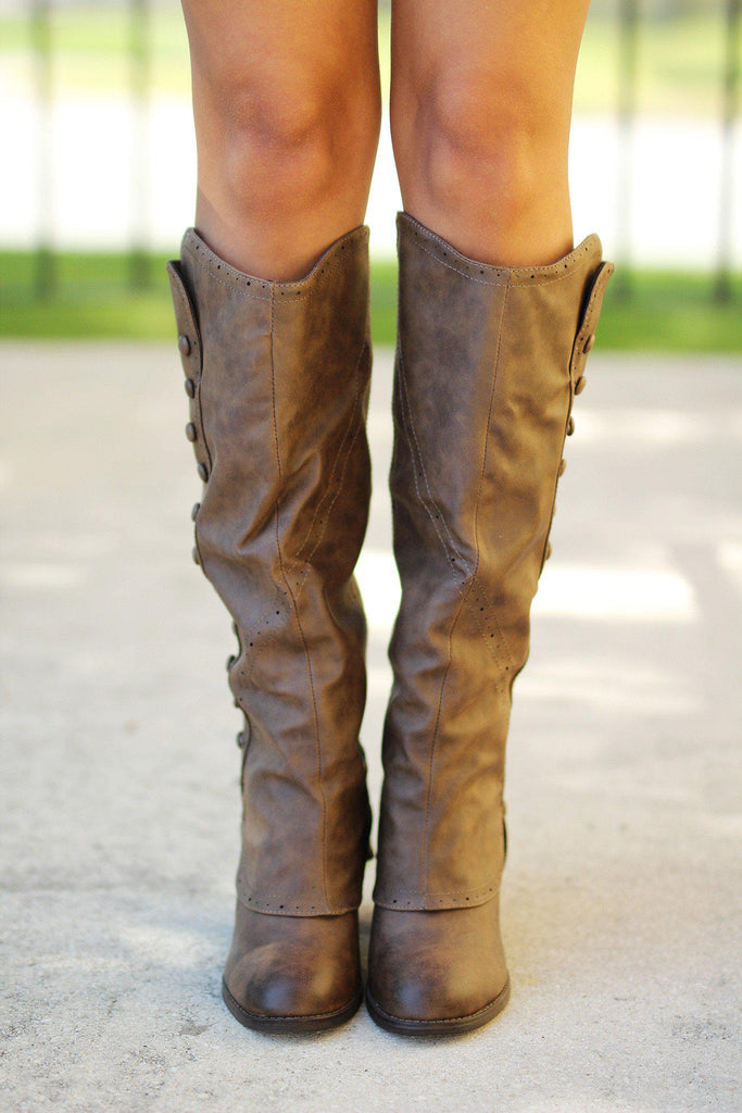 taupe fashion boots