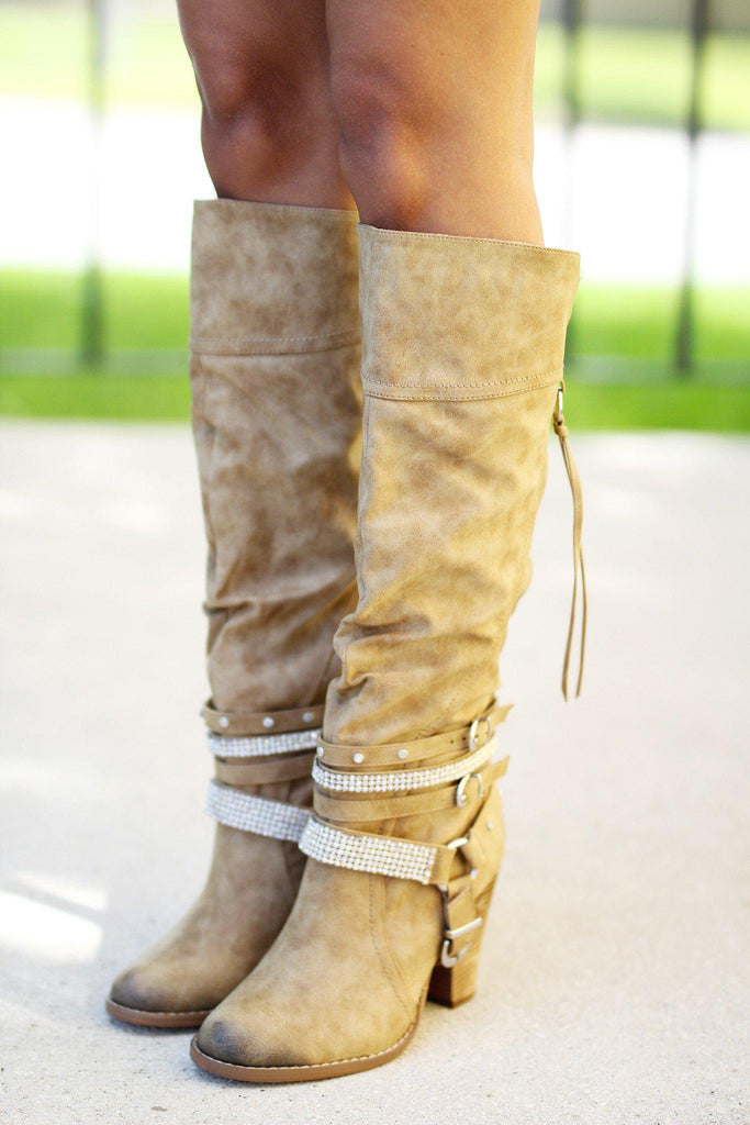 Stacey Nude Boots