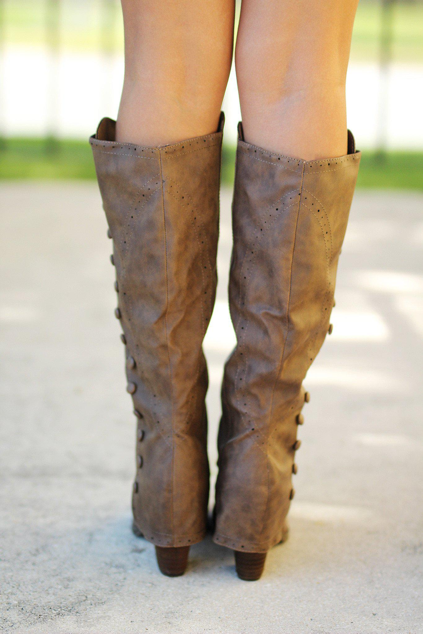 taupe winter boots
