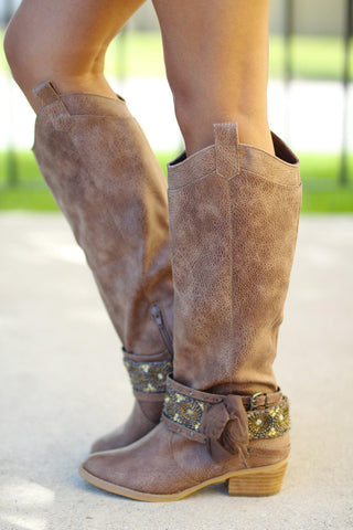 Go Getter Taupe Boots