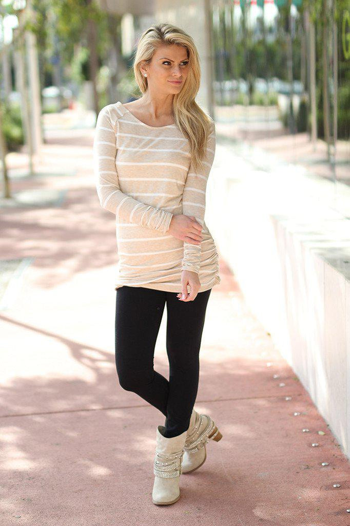 oatmeal casual top