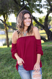 burgundy fashion top