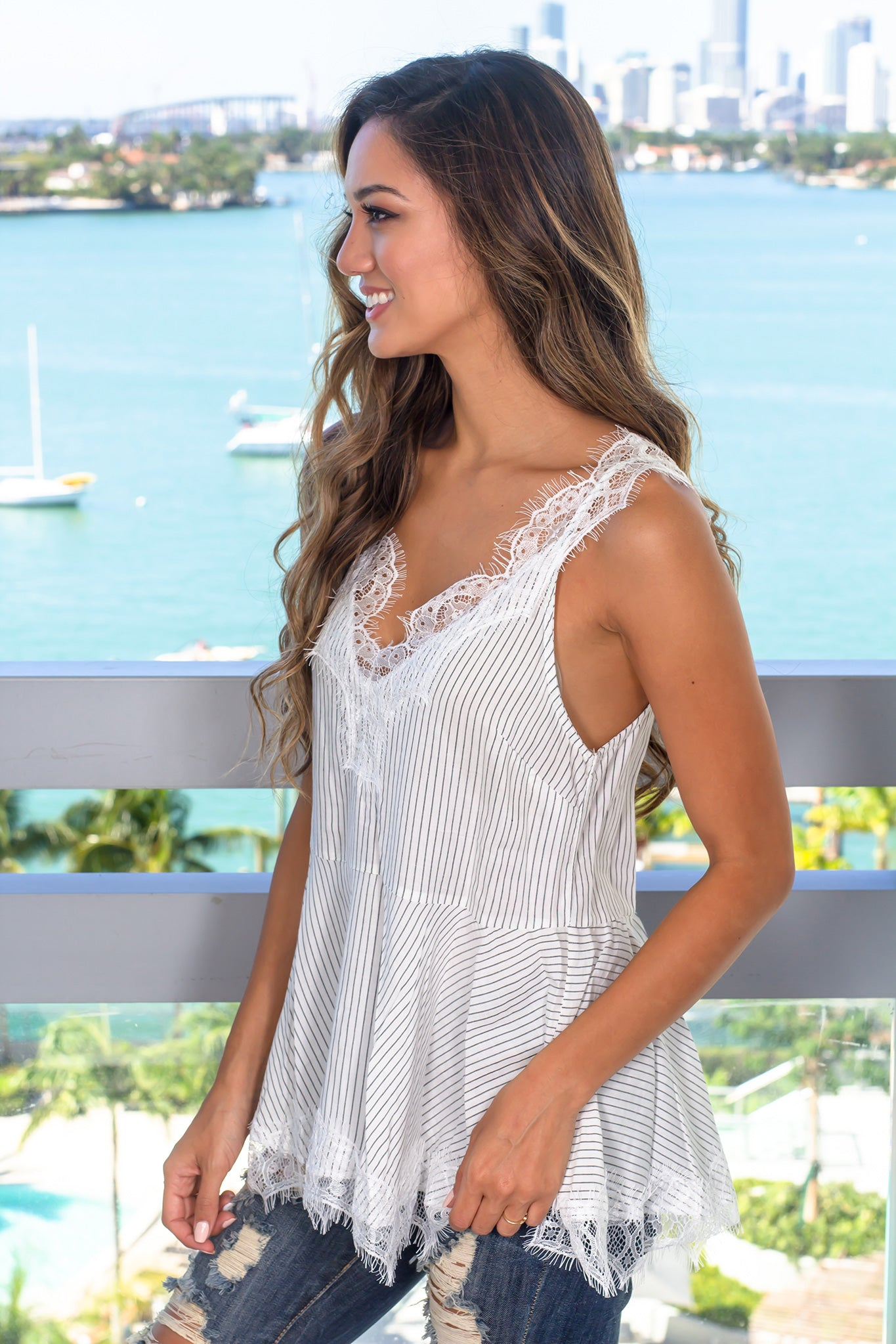 9e311821ad563 Off White Lace Top with Open Back