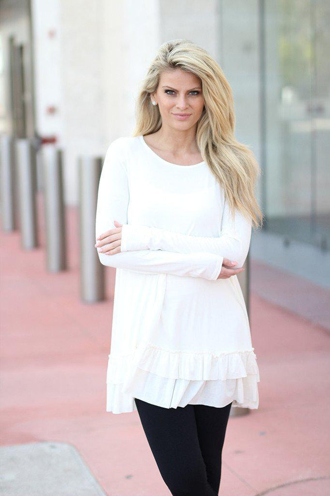 off white long sleeve tunic