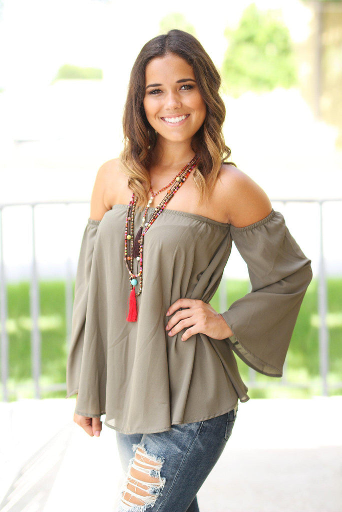 olive party top