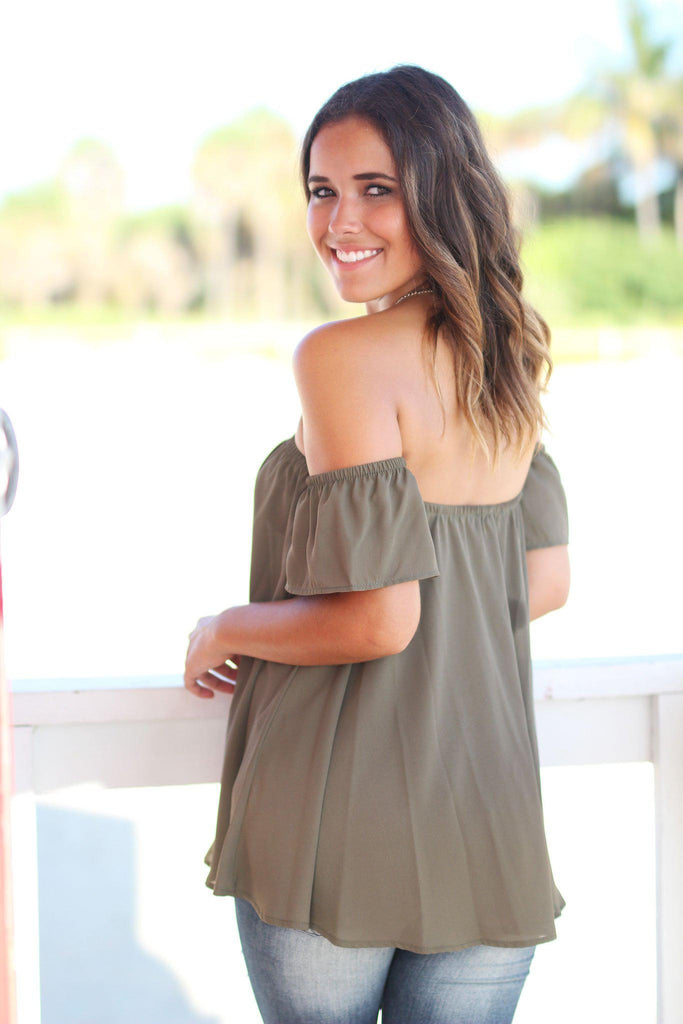 olive loose fit top