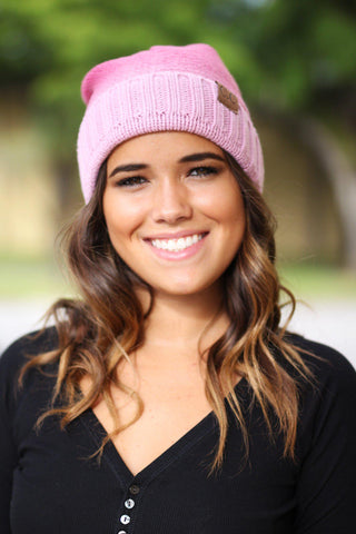 Pink Ombre Knit Beanie