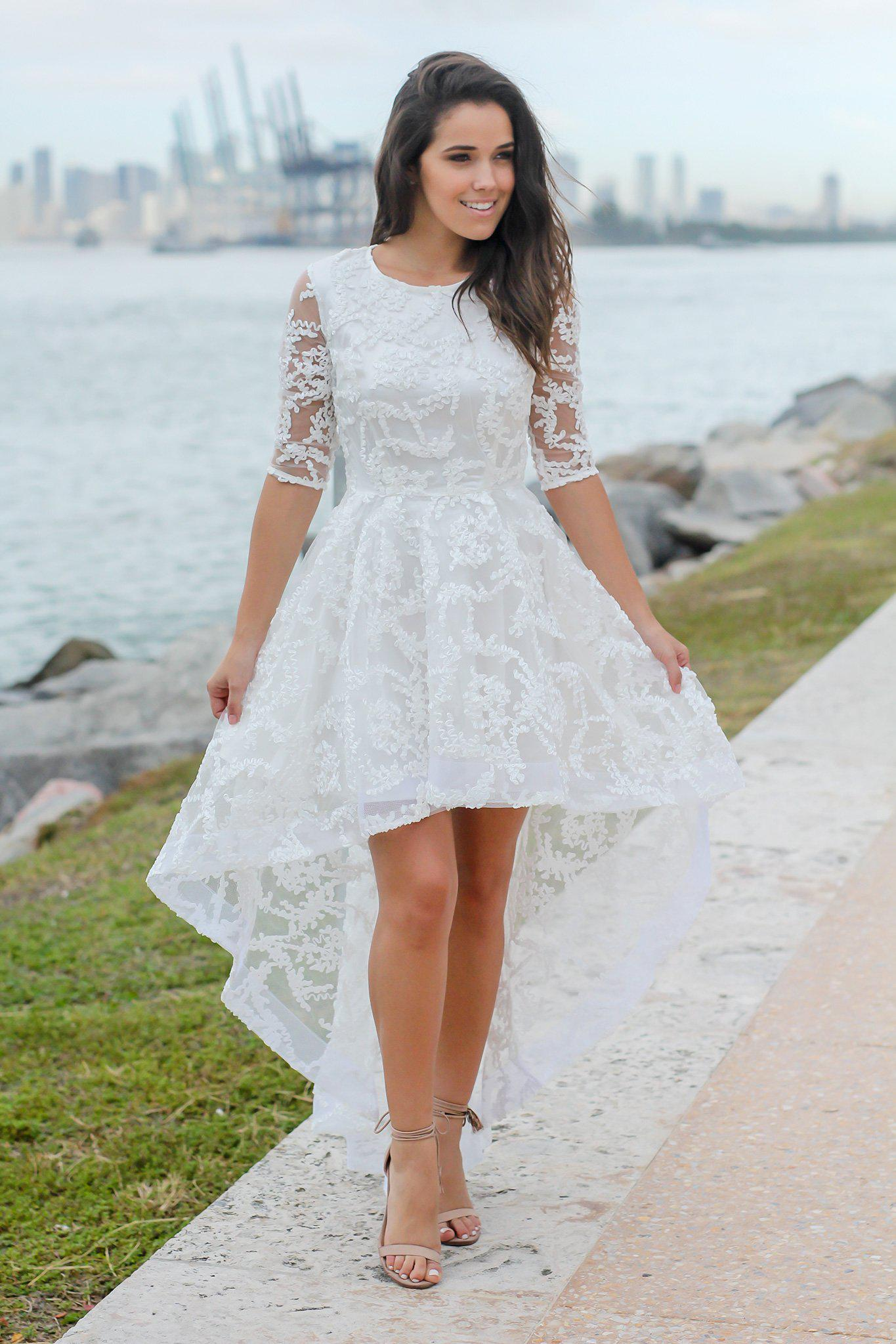 High Low Dress with Sleeves